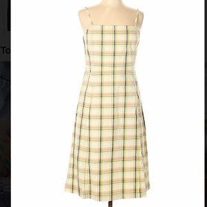 J Crew vintage style A-line plaid dress